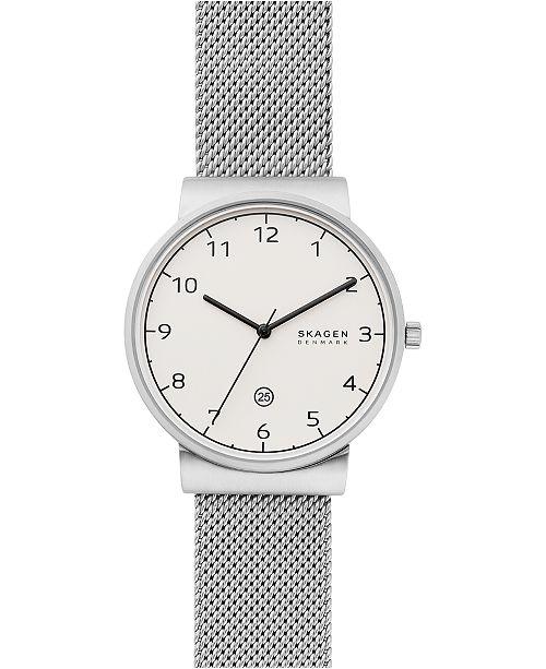 Skagen Men's Ancher Stainless Steel Mesh Bracelet Watch 40mm