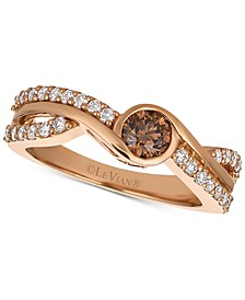 Chocolatier® Diamond Twist Ring (3/4 ct. t.w.) in 14k Rose Gold