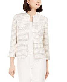 Tweed Open-Front Jacket