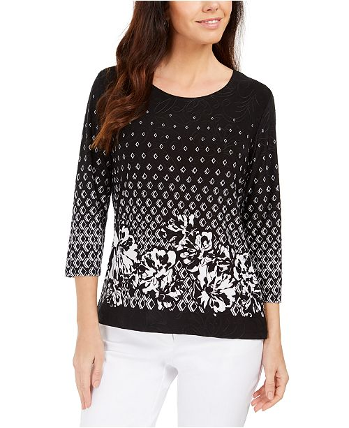 JM Collection Printed Top, Created For Macy's
