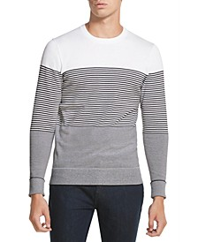 Men's Gradient Stripe Stretch Sweater