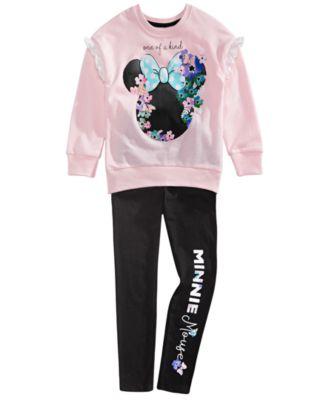 Disney Minnie Little Girls 2 Piece Top /& Leggings Set Pink