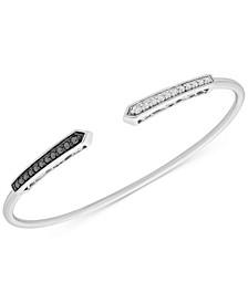 Diamond Wire Cuff Bracelet (1/3 ct. t.w.) in Sterling Silver