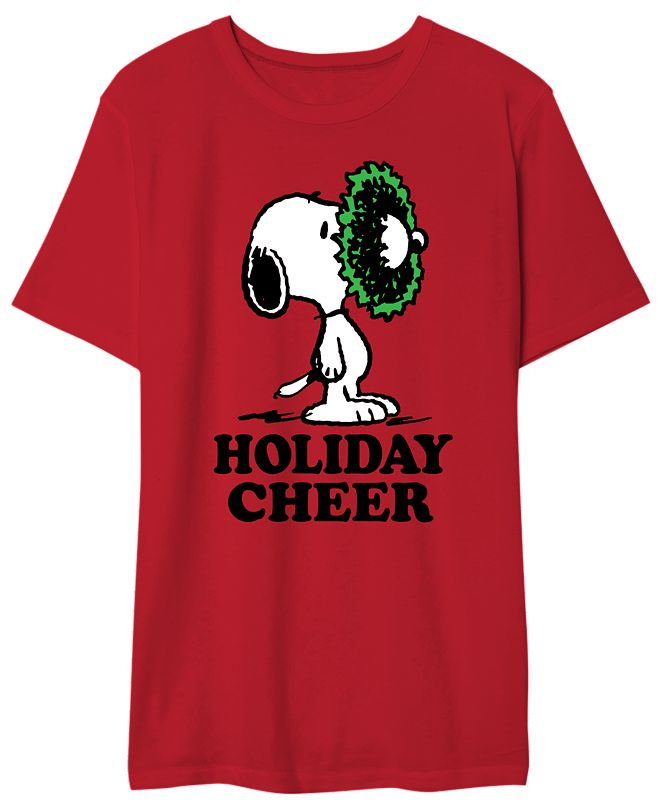 Hybrid Snoopy Holiday Cheer Men's Graphic T-Shirt
