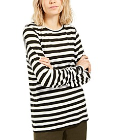 Striped Long-Sleeve Top, Regular & Petite