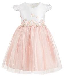 Little Girls Embroidered Ballerina Dress