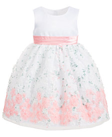 Blueberi Boulevard Toddler Girls Floral Soutache Dress