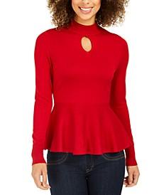 Keyhole Peplum Sweater, Created For Macy's