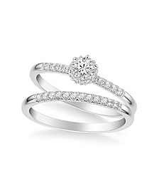 Diamond Bridal Set (3/8 ct. t.w.) in 14k White, Yellow or Rose Gold