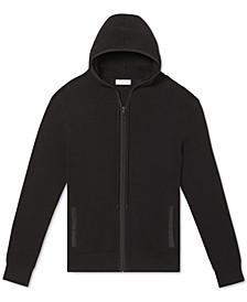 Men's Regular-Fit Textured Full-Zip Hoodie