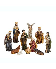 3.25-Inch Resin Nativity Figurine, 11 Pieces