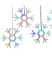 Snowflake Icicle Fairy Lights with RGB LED Lights