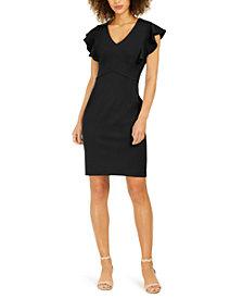 NY Collection Petite Ruffle Sleeve Dress