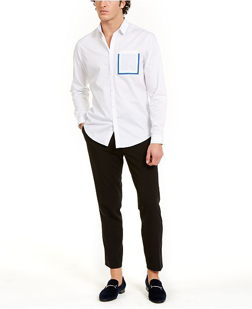 INC International Concepts INC Men's Contrast Pocket Shirt & Harry Trousers, Created For Macy's