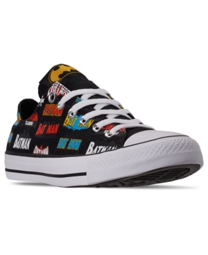 Converse Sneakers MEN'S CHUCK TAYLOR ALL STAR BATMAN LOW TOP CASUAL SNEAKERS FROM FINISH LINE