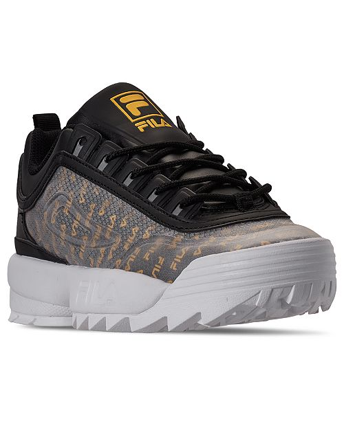 Fila Women's Disruptor II Premium Clear Logos Casual Athletic Sneakers from Finish Line