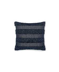 Denim Fringe 18 Square Decorative Pillow