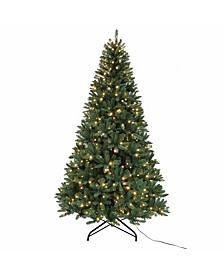 9-Foot Pre-Lit Warm White LED Pine Tree