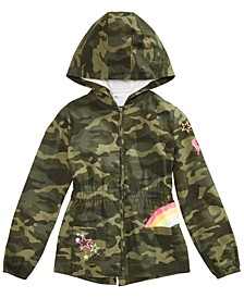 Big Girls Cotton Hooded Camo Jacket, Created for Macy's