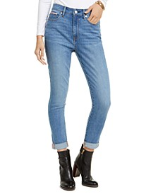 Mercer High-Waist Cuffed Jeans