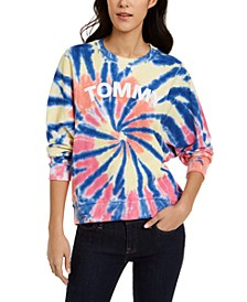 Cotton Tie-Dyed Logo Sweatshirt