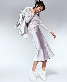 Lucy Paris Satin Midi Skirt