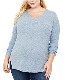 Plus Size V-Neck Sweater
