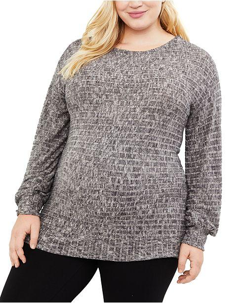 Motherhood Maternity Plus Size Hacci-Knit Top