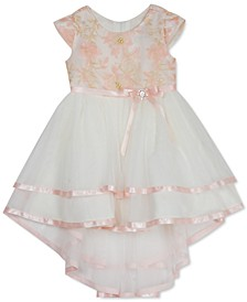 Toddler Girls Embroidered High-Low Dress