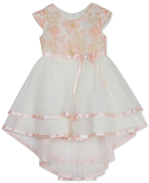 Rare Editions Little Girls Embroidered High-Low Dress