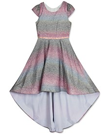Little Girls Glitter Ombré High-Low Dress