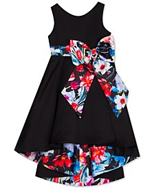 Little Girls High-Low Bow Dress