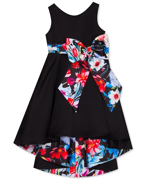Rare Editions Toddler Girls High-Low Bow Dress