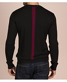 Men's Hudson Cashmere Blend Pullover Sweater with Colorblocked Stripe