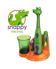 Kids Electric Toothbrush Crocodile Set