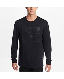 Paris Men's Long Sleeve Embossed Logo Tee