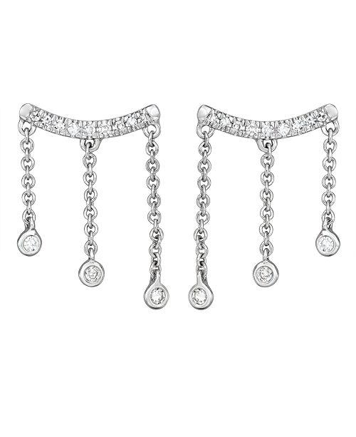 Serena Williams Jewelry Diamond (1/10 ct. t.w.) Droplet Stud Earrings in 14K White Gold