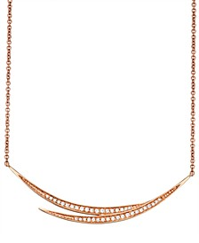 Diamond (1/6 ct. t.w.) Milky Way Necklace in 14K Rose Gold