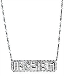 Diamond (1/3 ct. t.w.) 'Inspire' ID Necklace in 14K White Gold