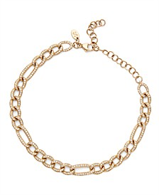 Diamond (1 ct. t.w.) Figaro Link Chain Bracelet in 14K Yellow Gold