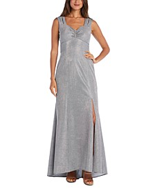 Metallic Column Gown