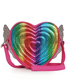 Winged Rainbow Heart Crossbody