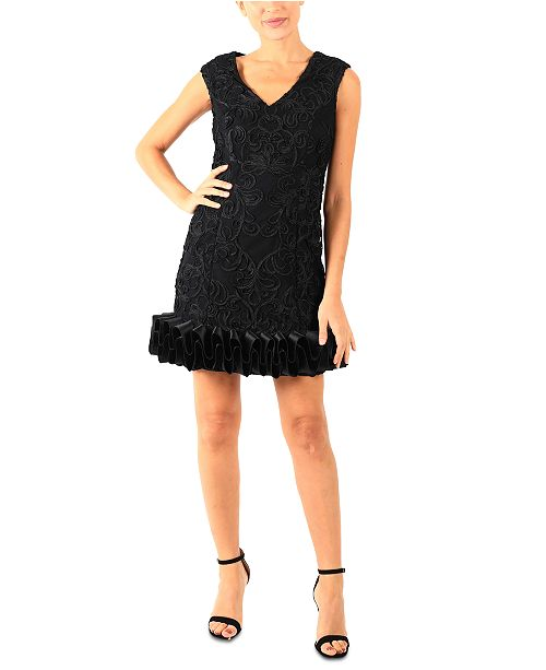 Donna Ricco V-Neck Cupcake Dress