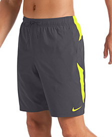 "Nike Men's 6:1 Stripe Breaker Water-Repellent Colorblocked 9"" Swim Trunks"