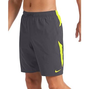 Nike Men's 6:1 Stripe Breaker Water-Repellent Colorblocked Swim Trunks