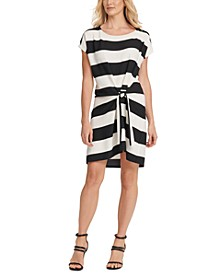 Striped Tie-Front Dress