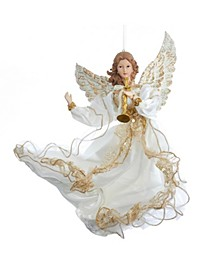 12-Inch Ivory and Gold Angel Ornament