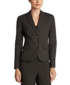 Notched-Lapel Blazer