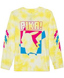Pokémon Big Boys Pikachu Just Pika Tie-Dye T-Shirt