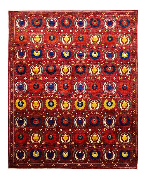 """Timeless Rug Designs CLOSEOUT! One of a Kind OOAK933 Raspberry 10'1"""" x 14'2"""" Area Rug"""